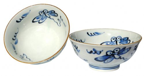 Japanese Happy Dragonfly bowls X2